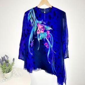 Yolanda Lorente silk hand painted tunic size M L